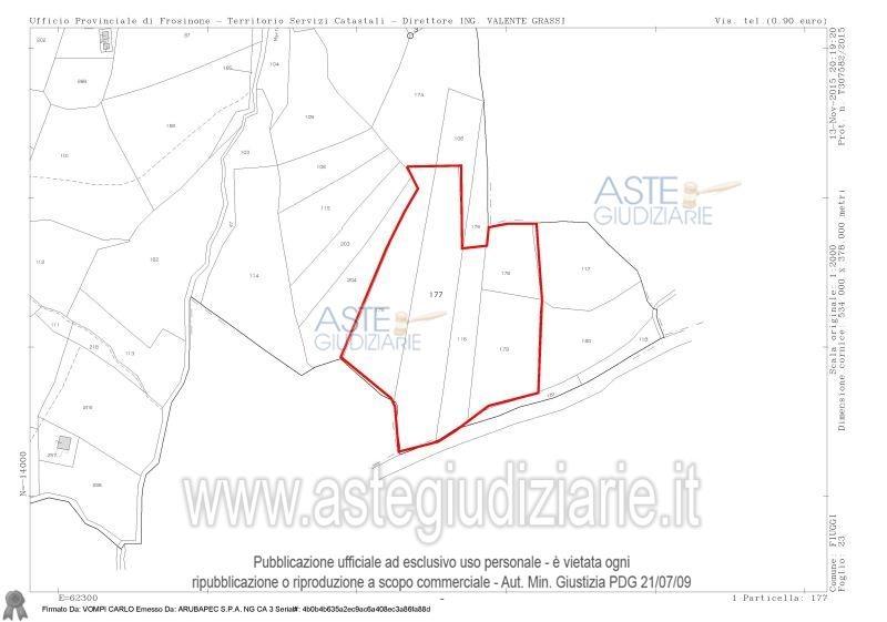 Terreno vendita FIUGGI (FR) - 99 LOCALI - 15850 MQ